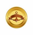 Golden anchor design vector