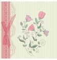 Vintage floral card background vector