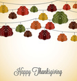 Elegant string thanksgiving card in format vector