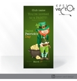 St patricks day leprechaun with pot of gold vector