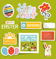 Easter symbols - objects set vector