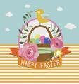 Happy easter design with little bird vector