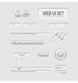 Light web ui elements vector