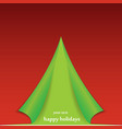 Christmas tree formed from curled corner paper vector
