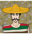 Mexican over pattern vector