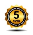 Gold guarantee sign warranty label vector