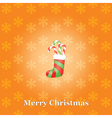 Christmas background with sock and candies vector