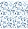 Blue molecules texture seamless pattern background vector