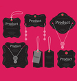 Jewelry tags design vector