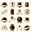 Retro flat vintage labels signs badges vector