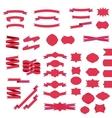 Ribbons and badges set vector