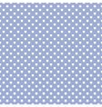 Tile white polka dots on blue background pattern vector