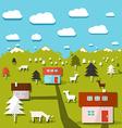 Rural mountain landscape vector