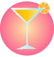 Tropical summer cocktail hand drawn on pink vector