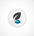 Plant icon 2 colored vector