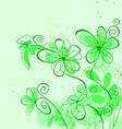 Spring abstract floral vector