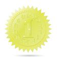 Golden award emblem vector