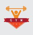 Weight lifting design vector