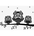 Owl black vector