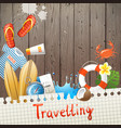 Travelling background vector