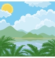 Tropical sea summer landscape vector