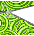 Abstract background with open zipper for design vector