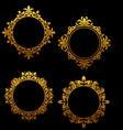 Set of vintage golden frames vector