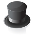 Isometric icon of top hat vector