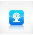 Web camera icon application button vector