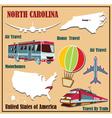 Flat map of north carolina vector
