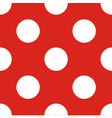 Tile pattern white polka dots red background vector