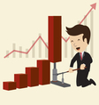 Businessman with graph vector