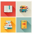 Set of book icons in flat design style vector