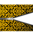 Seamless damask background with zipper for design vector