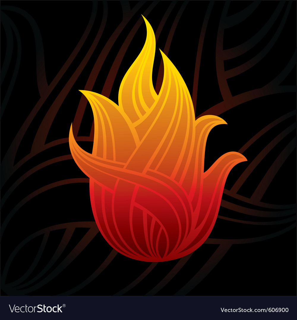 Abstract flame vector | Price: 1 Credit (USD $1)