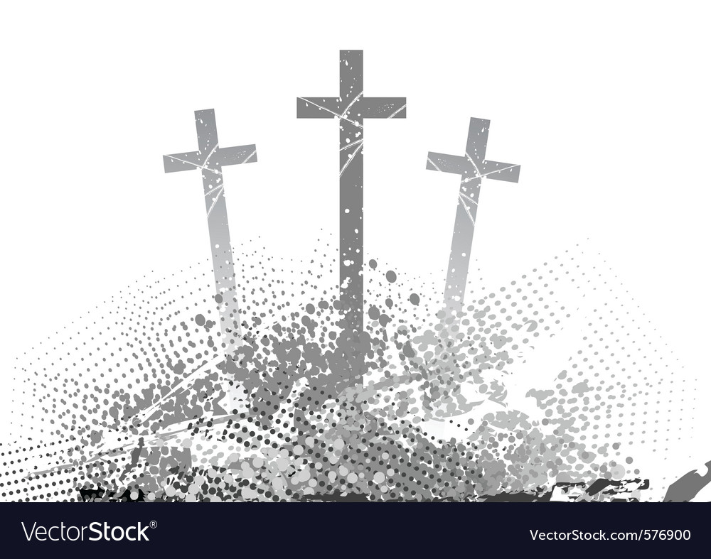 Abstract golgotha with three cross vector | Price: 1 Credit (USD $1)