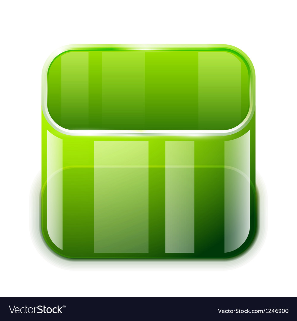 App glass container icon vector | Price: 1 Credit (USD $1)