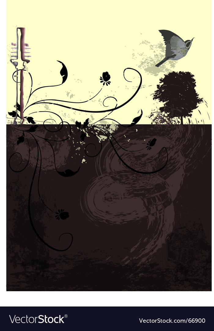Bird landscape vector | Price: 1 Credit (USD $1)