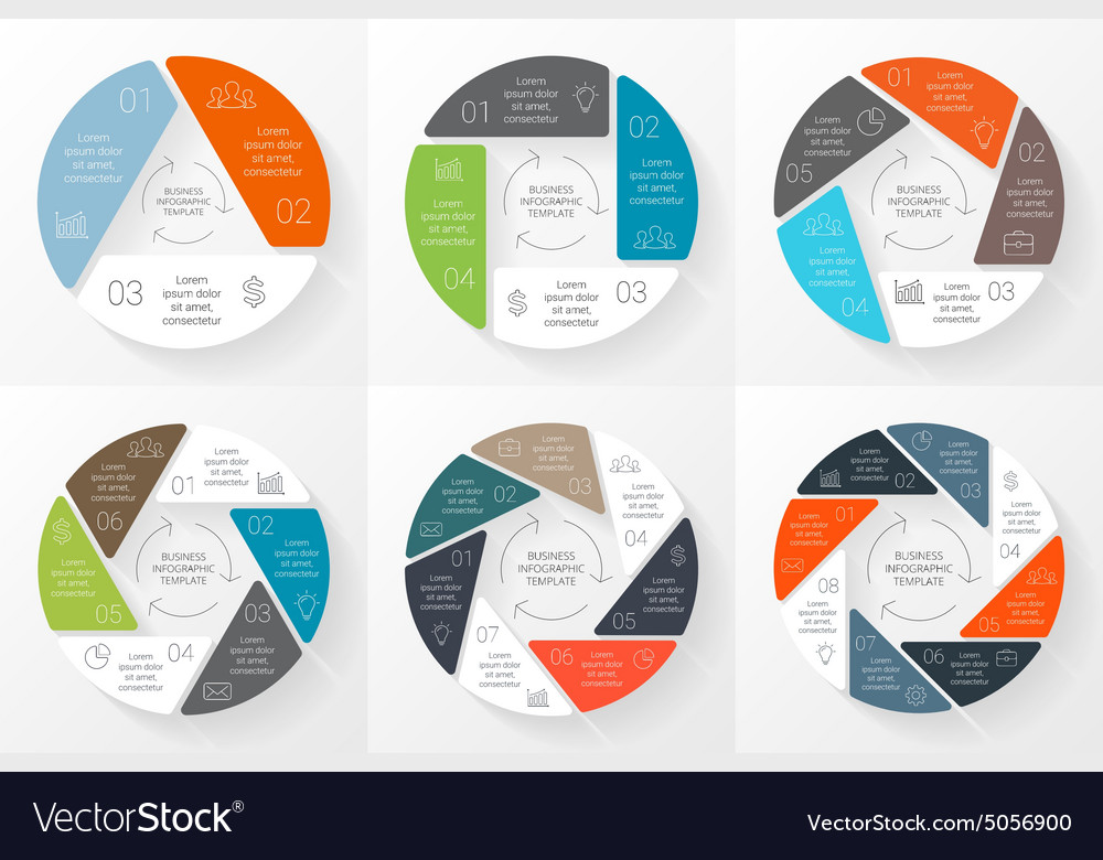 Circle infographic template for cycle vector
