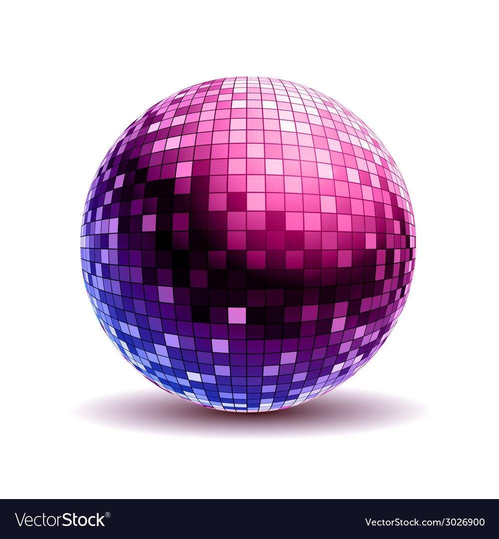 Disco ball background vector | Price: 1 Credit (USD $1)