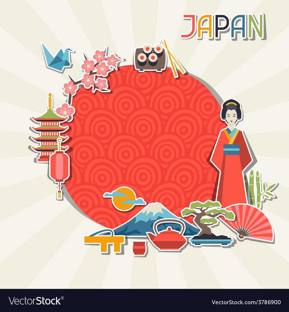 Japan background design vector | Price: 1 Credit (USD $1)