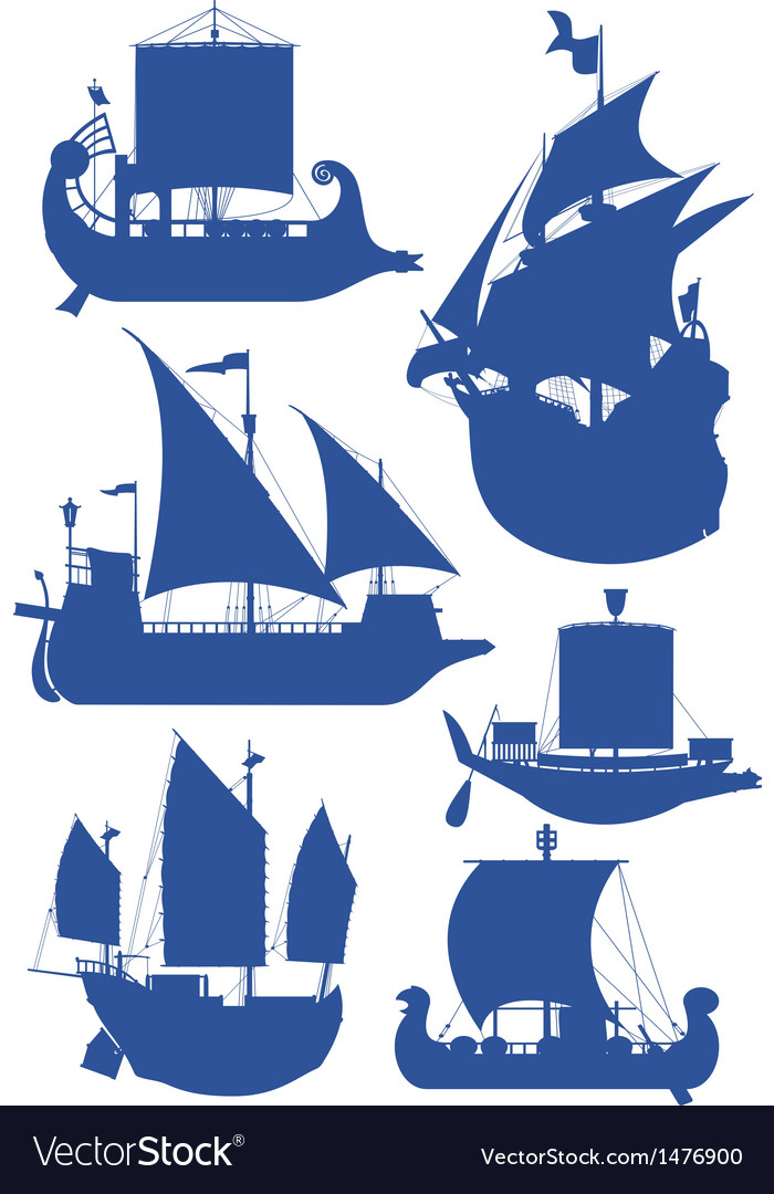 Sailing ships vector | Price: 1 Credit (USD $1)