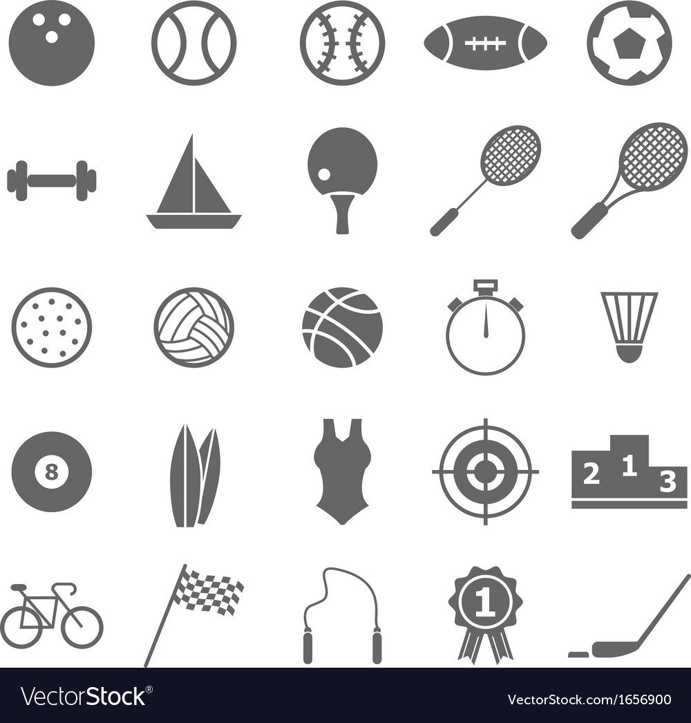 Sport icons on white background vector | Price: 1 Credit (USD $1)