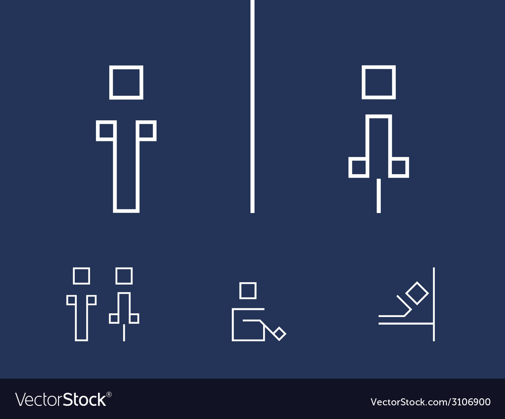 Toilet symbols vector | Price: 1 Credit (USD $1)