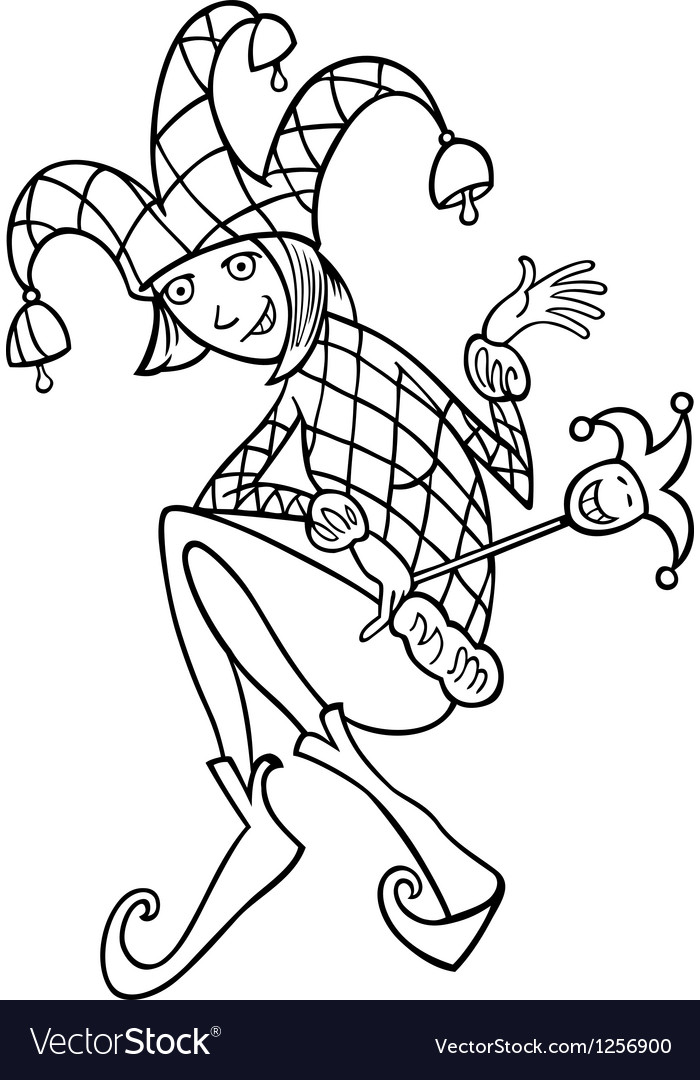 Woman in jester costume cartoon vector | Price: 1 Credit (USD $1)