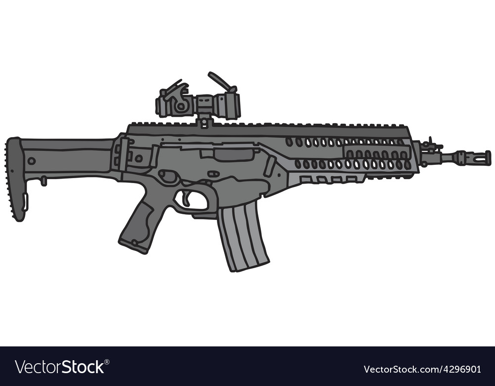 Automatic gun vector | Price: 1 Credit (USD $1)
