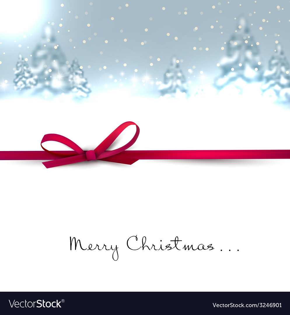 Beautiful christmas background with blurred vector | Price: 1 Credit (USD $1)