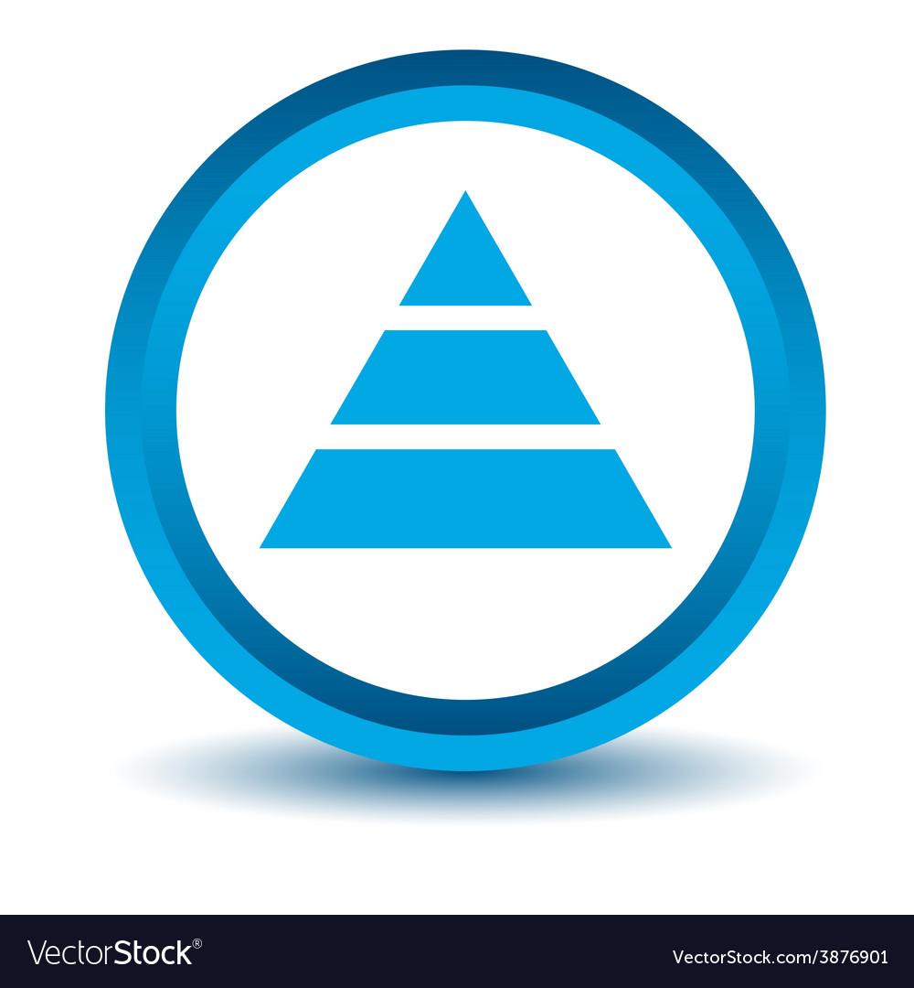 Blue pyramid icon vector   Price: 1 Credit (USD $1)