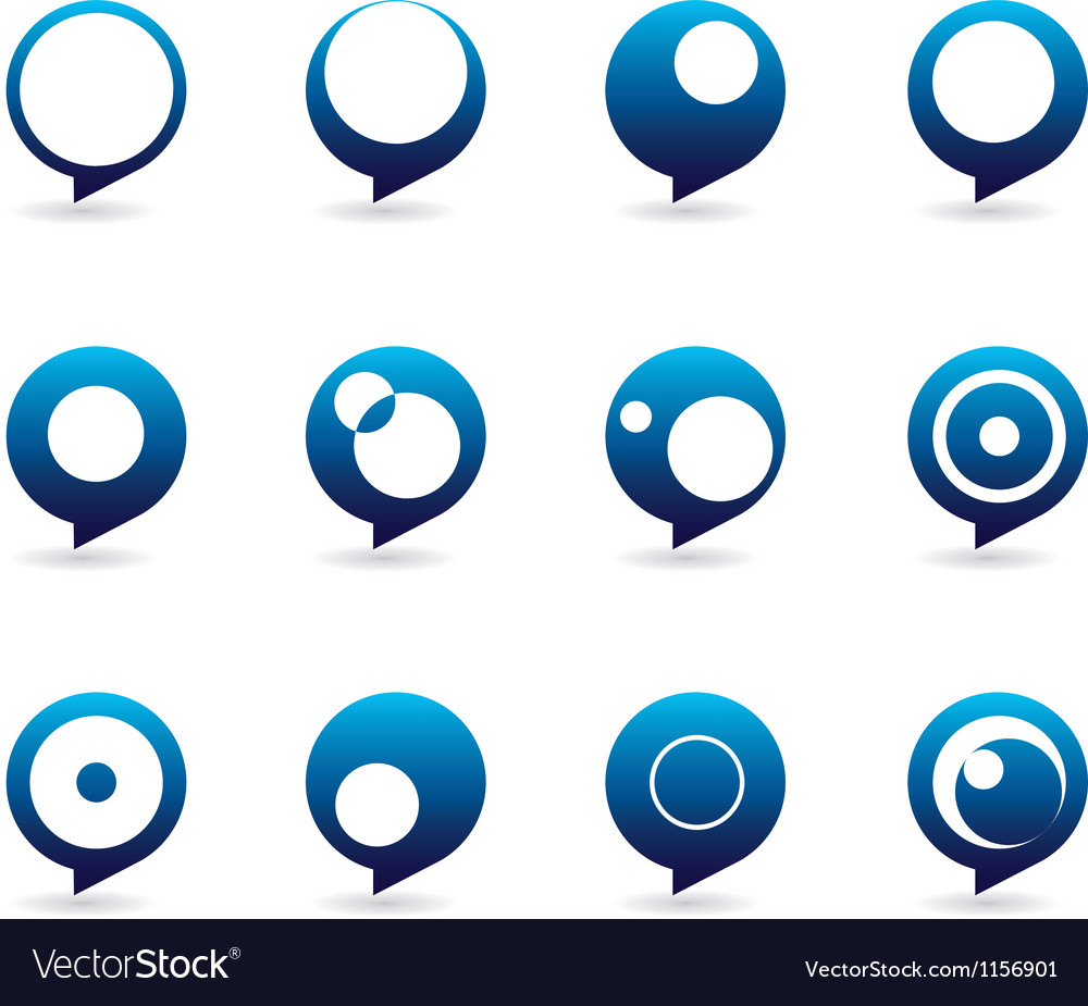 Blue speech bubble icons vector | Price: 1 Credit (USD $1)