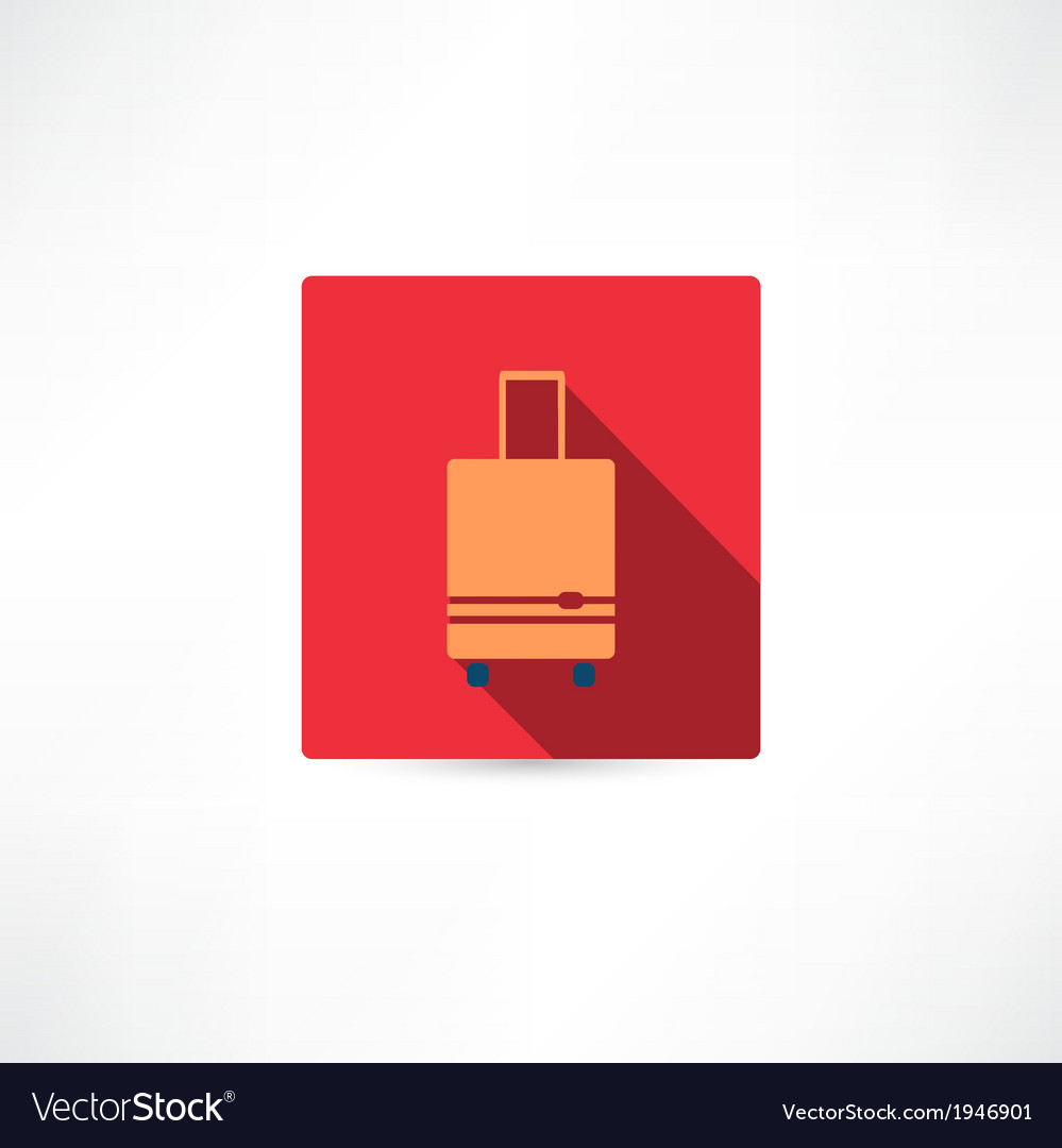 Brown luggage vector | Price: 1 Credit (USD $1)